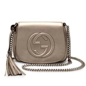 Gucci Bags - Gucci Metallic Gold Disco Crossbody Bag with Chain